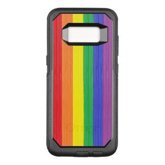 Capa OtterBox Commuter Para Samsung Galaxy S8 Bandeira pintada do arco-íris
