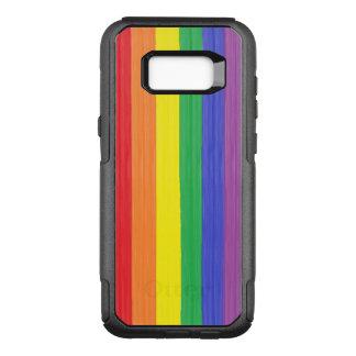 Capa OtterBox Commuter Para Samsung Galaxy S8+ Bandeira pintada do arco-íris