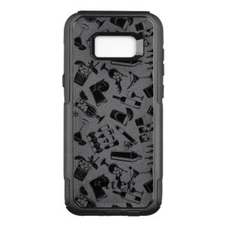 Capa OtterBox Commuter Para Samsung Galaxy S8+ Bar preto do cocktail do teste padrão