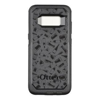 Capa OtterBox Commuter Para Samsung Galaxy S8 Bebidas e vidros pretos do teste padrão