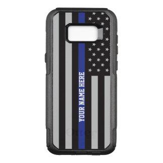 Capa OtterBox Commuter Para Samsung Galaxy S8+ Blue Line fino - costume personalizado da bandeira