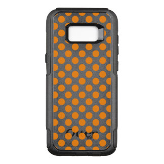 Capa OtterBox Commuter Para Samsung Galaxy S8+ Bolinhas alaranjadas