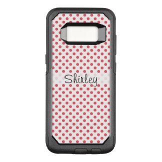 Capa OtterBox Commuter Para Samsung Galaxy S8 Bolinhas cor-de-rosa corais por Shirley Taylor