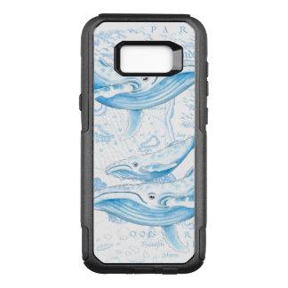 Capa OtterBox Commuter Para Samsung Galaxy S8+ Branco da família das baleias azuis
