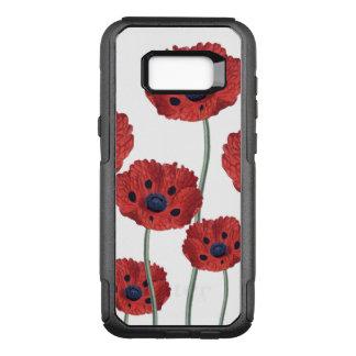 Capa OtterBox Commuter Para Samsung Galaxy S8+ Branco vermelho da papoila