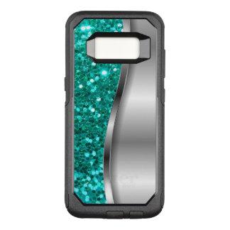 Capa OtterBox Commuter Para Samsung Galaxy S8 Brilho legal de turquesa