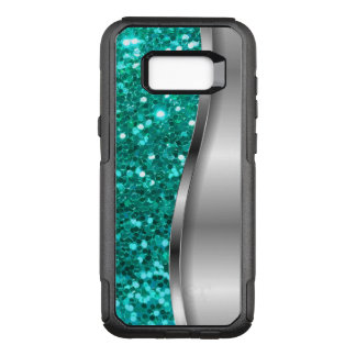 Capa OtterBox Commuter Para Samsung Galaxy S8+ Brilho legal do falso de turquesa