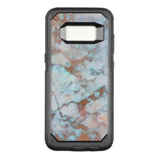 Capa OtterBox Commuter Para Samsung Galaxy S8 Brown e pedra de mármore azul