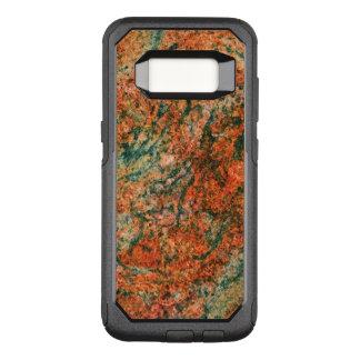 Capa OtterBox Commuter Para Samsung Galaxy S8 Brown & textura de mármore natural do verde