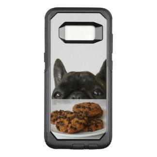 Capa OtterBox Commuter Para Samsung Galaxy S8 Buldogue francês rajado preto