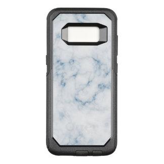 Capa OtterBox Commuter Para Samsung Galaxy S8 Caixa azul da lontra de w do branco de mármore da