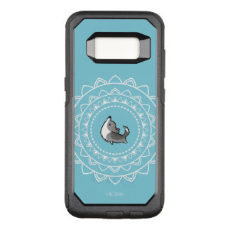 Capa OtterBox Commuter Para Samsung Galaxy S8 Caixa azul de Otterbox do Corgi de Namaste Merle