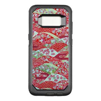 Capa OtterBox Commuter Para Samsung Galaxy S8 Caixa floral vermelha de Origami Yuzen S8 da arte