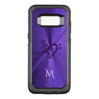 Capa OtterBox Commuter Para Samsung Galaxy S8 Caixa roxa metálica da galáxia S8 do coração da