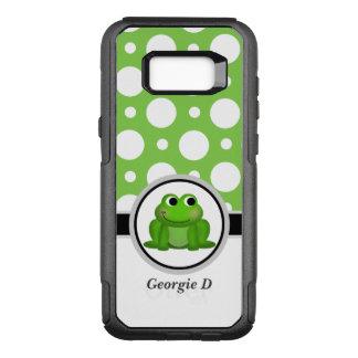Capa OtterBox Commuter Para Samsung Galaxy S8+ Caixa verde da galáxia S8 de Samsung das bolinhas
