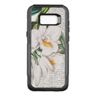 Capa OtterBox Commuter Para Samsung Galaxy S8+ Caligrafia branca da orquídea