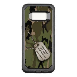 Capa OtterBox Commuter Para Samsung Galaxy S8 Camo verde militar com Tag de cão