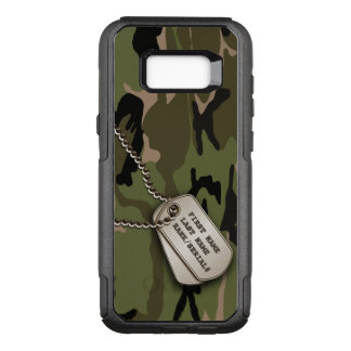 Capa OtterBox Commuter Para Samsung Galaxy S8+ Camuflagem verde militar com dog tags