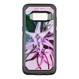 Capa OtterBox Commuter Para Samsung Galaxy S8 Caneca botânica do impressão da orquídea do natal