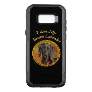 Capa OtterBox Commuter Para Samsung Galaxy S8+ Cão de filhote de cachorro canino marrom doce