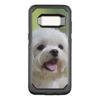 Capa OtterBox Commuter Para Samsung Galaxy S8 Cão maltês branco