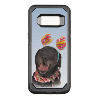 Capa OtterBox Commuter Para Samsung Galaxy S8 Cão preto doce de labrador retriever