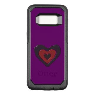 Capa OtterBox Commuter Para Samsung Galaxy S8 Capa de telefone de derretimento gótico do coração