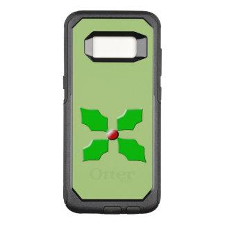 Capa OtterBox Commuter Para Samsung Galaxy S8 Capa de telefone do azevinho do Feliz Natal