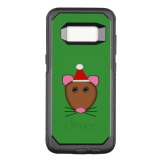 Capa OtterBox Commuter Para Samsung Galaxy S8 Capa de telefone do rato do Feliz Natal