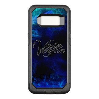 Capa OtterBox Commuter Para Samsung Galaxy S8 Capa de telefone vã do Vegan (preto/azul)