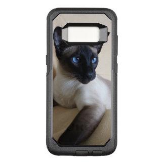 Capa OtterBox Commuter Para Samsung Galaxy S8 Cara lindo do gato Siamese