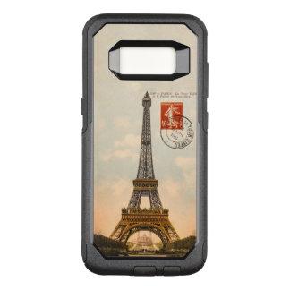 Capa OtterBox Commuter Para Samsung Galaxy S8 Caso de OtterBox Samsung S8 da torre Eiffel do