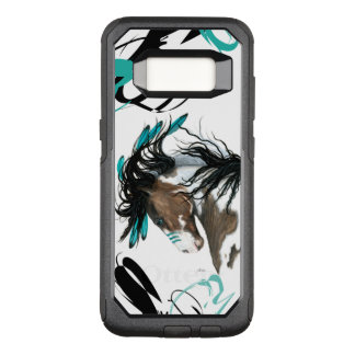 Capa OtterBox Commuter Para Samsung Galaxy S8 Caso majestoso da pilha do cavalo do Pinto por