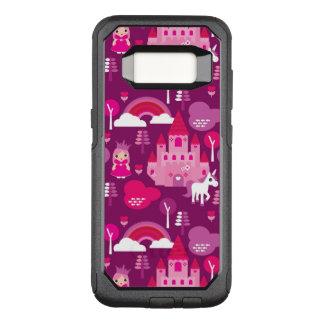 Capa OtterBox Commuter Para Samsung Galaxy S8 castelo da princesa e arco-íris do unicórnio