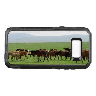 Capa OtterBox Commuter Para Samsung Galaxy S8+ Cavalos no pasto - fotografia da paisagem