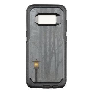Capa OtterBox Commuter Para Samsung Galaxy S8 Cena da neve com a lâmpada de rua velha de
