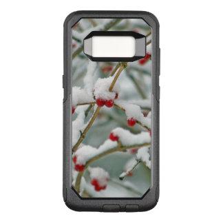 Capa OtterBox Commuter Para Samsung Galaxy S8 Cena vermelha nevado do inverno das bagas