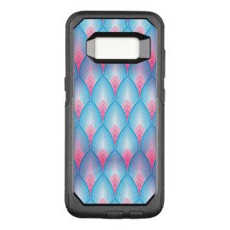 Capa OtterBox Commuter Para Samsung Galaxy S8 Cerceta e teste padrão cor-de-rosa da pétala