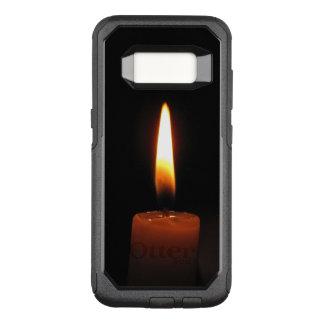 Capa OtterBox Commuter Para Samsung Galaxy S8 Chama de vela na caixa preta da galáxia S8 de