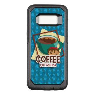 Capa OtterBox Commuter Para Samsung Galaxy S8 Chávena de café deliciosa da ilustração com um