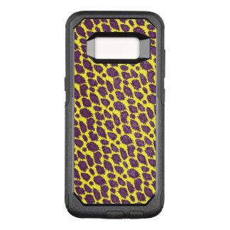 Capa OtterBox Commuter Para Samsung Galaxy S8 Chita amarela roxa brilhante