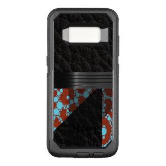 Capa OtterBox Commuter Para Samsung Galaxy S8 Chita de Borgonha de turquesa
