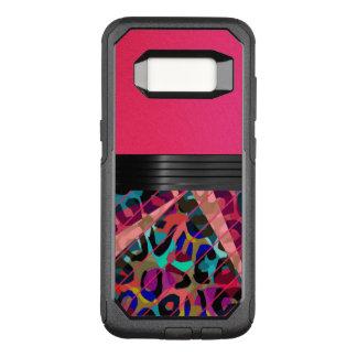 Capa OtterBox Commuter Para Samsung Galaxy S8 Chita Textured do rosa quente
