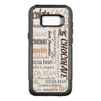 Capa OtterBox Commuter Para Samsung Galaxy S8+ Chocolate, amêndoas e nuvem escura da palavra do
