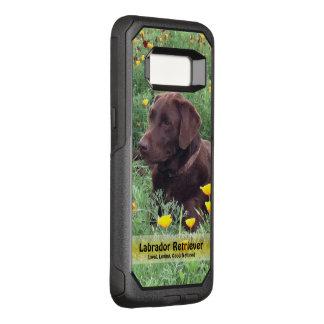 Capa OtterBox Commuter Para Samsung Galaxy S8 Chocolate considerável Labrador no remendo da flor