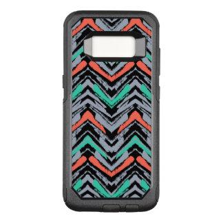 Capa OtterBox Commuter Para Samsung Galaxy S8 Cinzas, cerceta, e mão coral teste padrão tirado