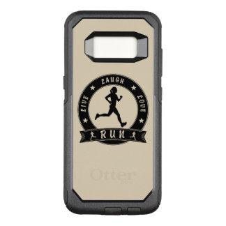 Capa OtterBox Commuter Para Samsung Galaxy S8 Círculo fêmea FUNCIONADO do riso amor vivo (preto)