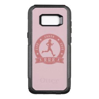 Capa OtterBox Commuter Para Samsung Galaxy S8+ Círculo fêmea FUNCIONADO do riso amor vivo (rosa)