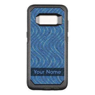 Capa OtterBox Commuter Para Samsung Galaxy S8 Círculos e ondas azuis