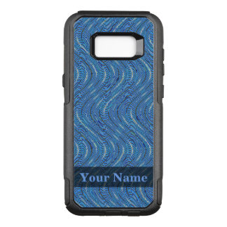 Capa OtterBox Commuter Para Samsung Galaxy S8+ Círculos e ondas azuis